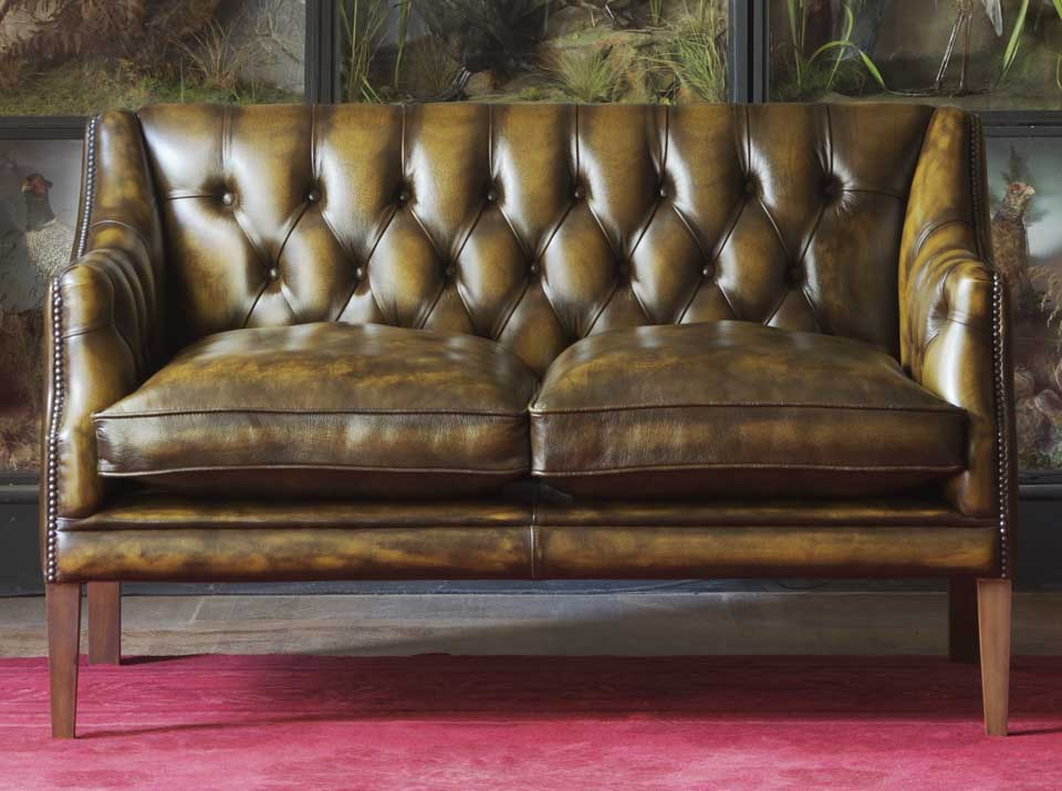 benjamin leather chesterfield sofa