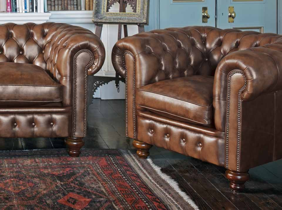 cromwell chesterfield leather sofa