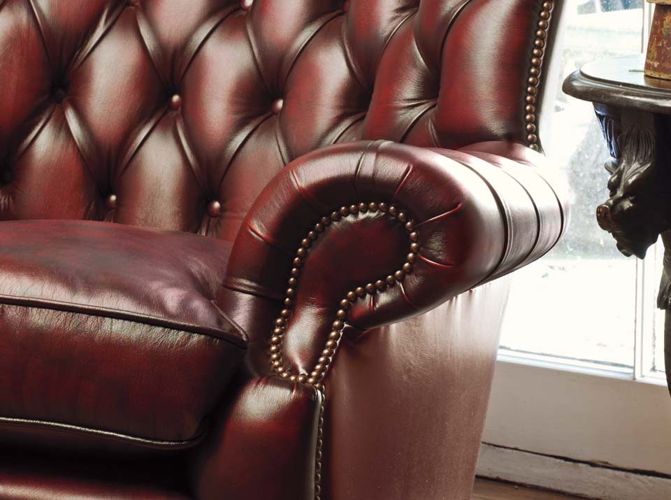 howland leather chesterfield sofa