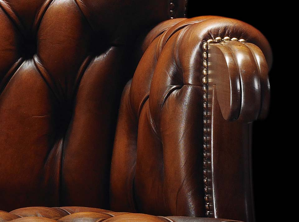 duke chesterfield chair arm
