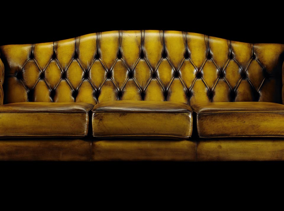 Edmund Burke leather Chesterfield sofa body