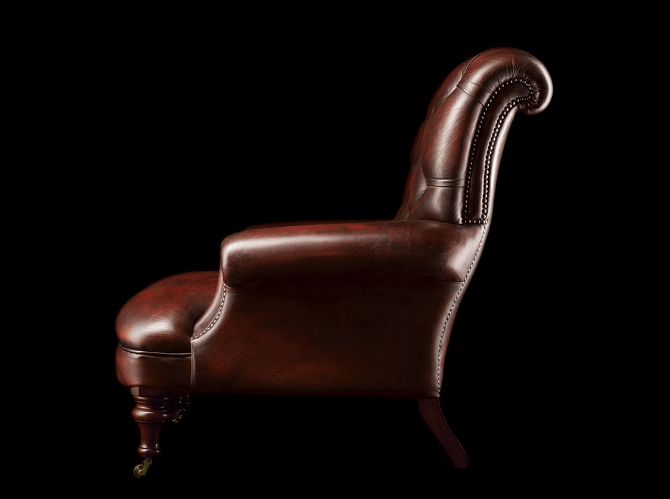 Havelock Ellis Leather Chesterfield Chair side