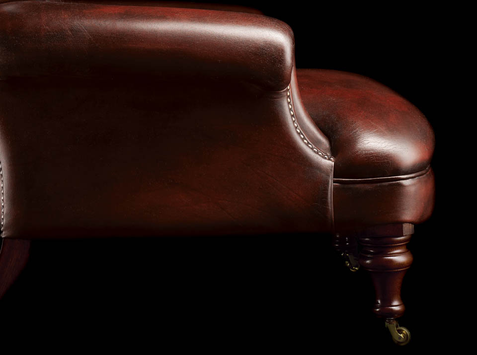 Havelock Ellis Leather Chesterfield Chair arm