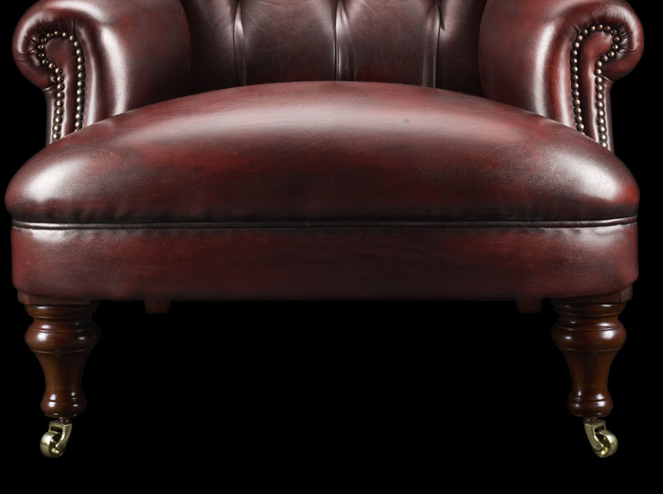 Havelock Ellis Leather Chesterfield Chair legs