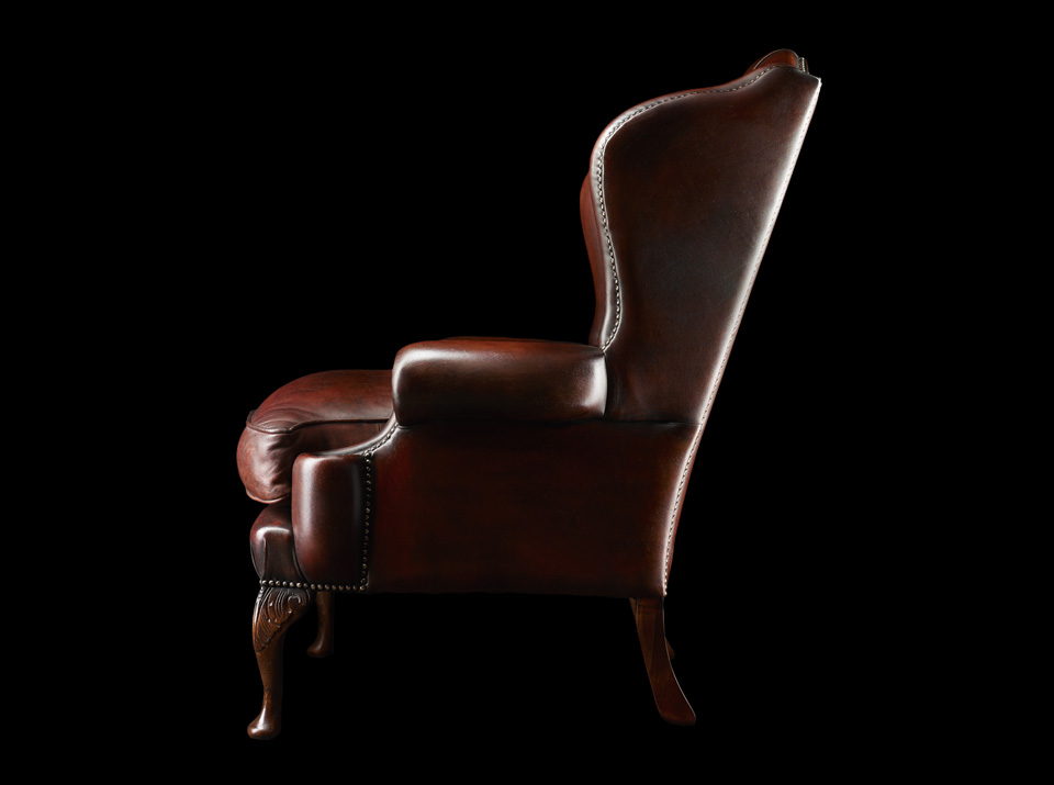 James Boswell Chesterfield chair side