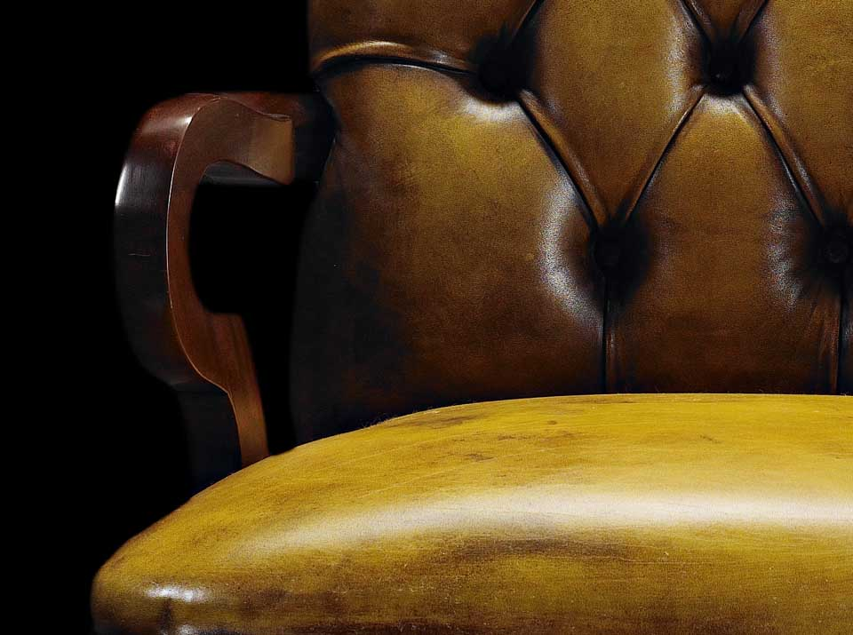 gold lord chesterfield chair