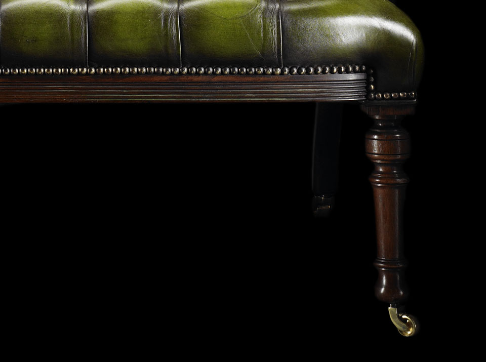 green heirloom love chesterfield sofa