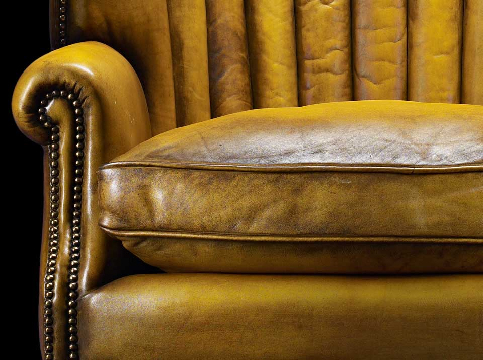 chesterfield oliver goldsmith gold chair