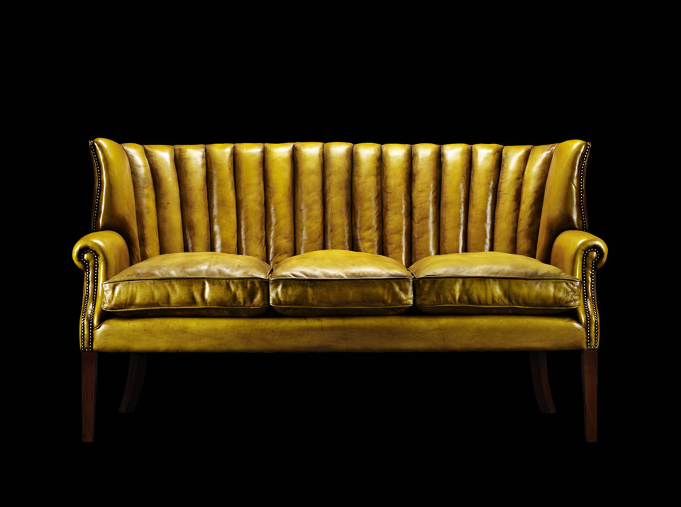 oliver goldsmith chesterfield gold chair