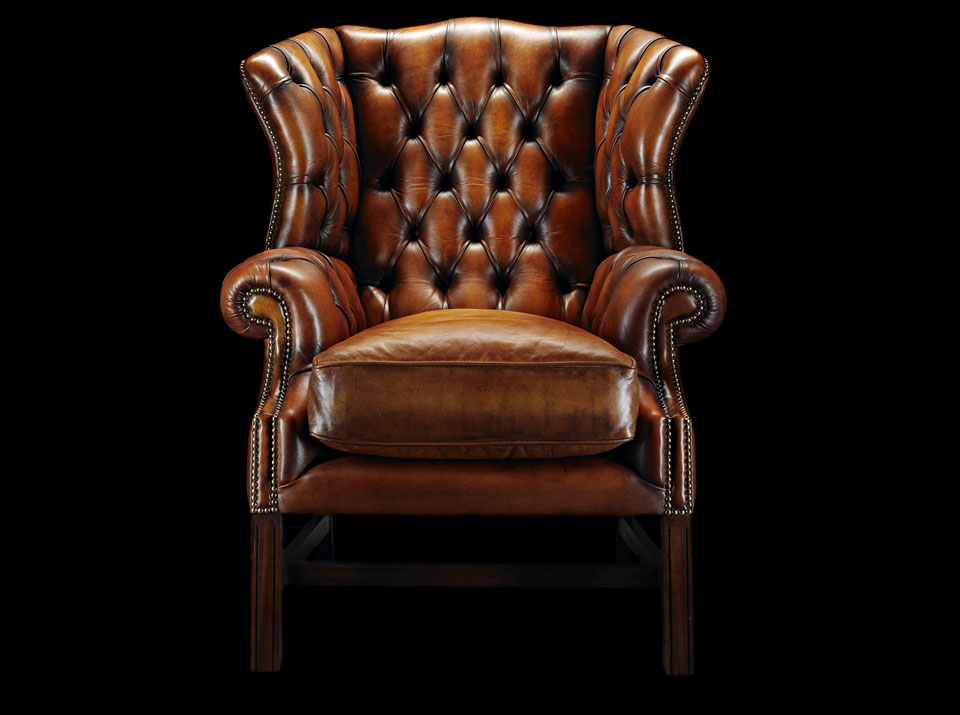 heirloom samuel johnson chesterfield chair