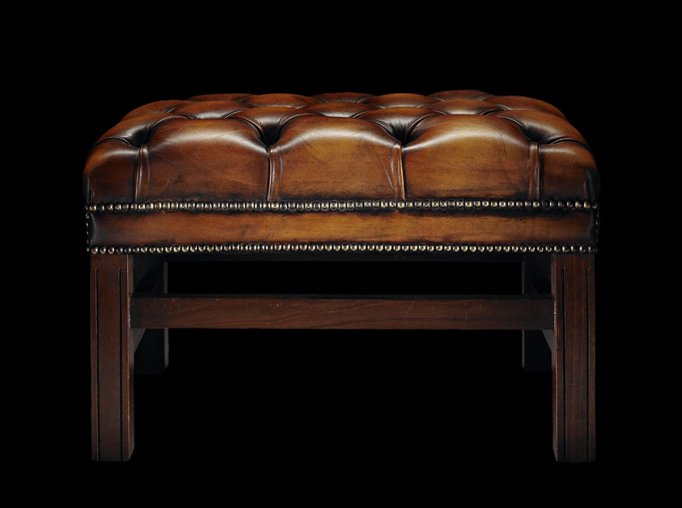 heirloom samuel johnson chesterfield stool