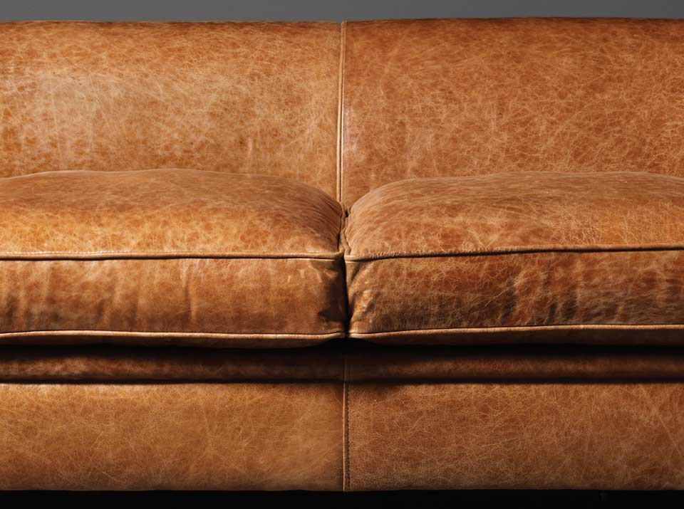 100 Fibre Cushion Fillings As Standard Optional Foam Or Feather Madison 3 Seater Sofa In Le Tan Leather