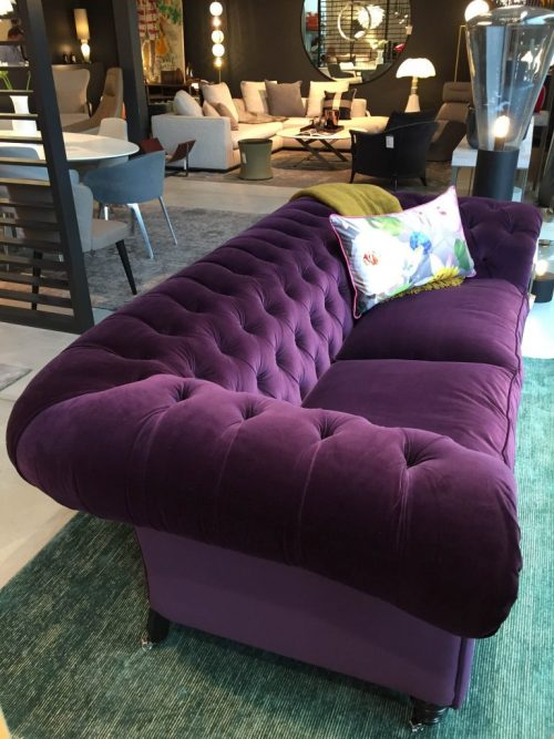 SAMUEL JOHNSON SOFA AND CHAIR IN VELVET