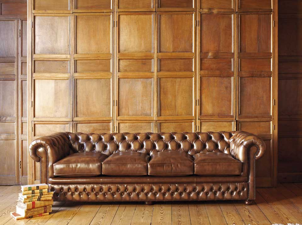 stamford leather chesterfield sofa