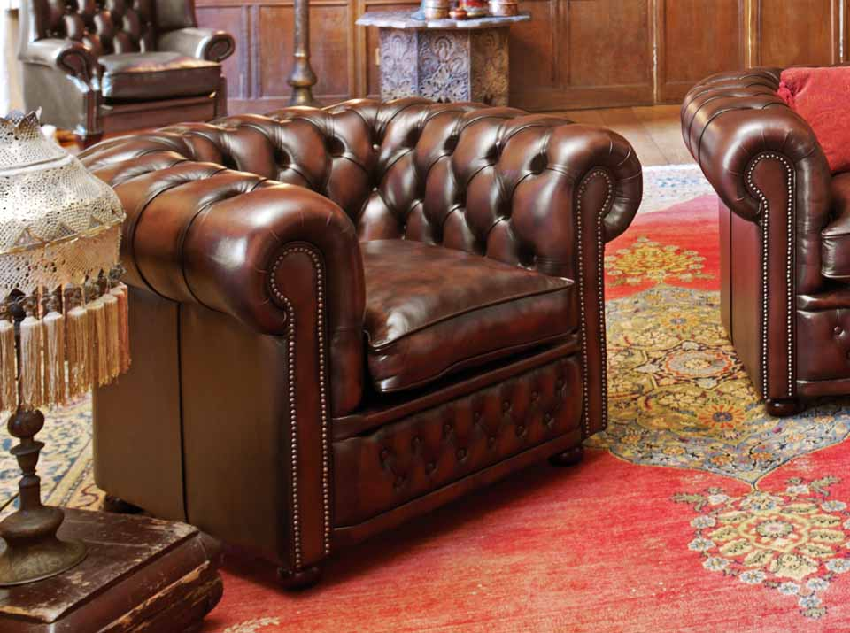 stamford leather chesterfield armchair