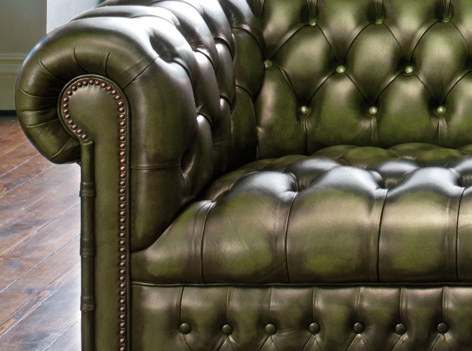Hamilton three seater antique green
