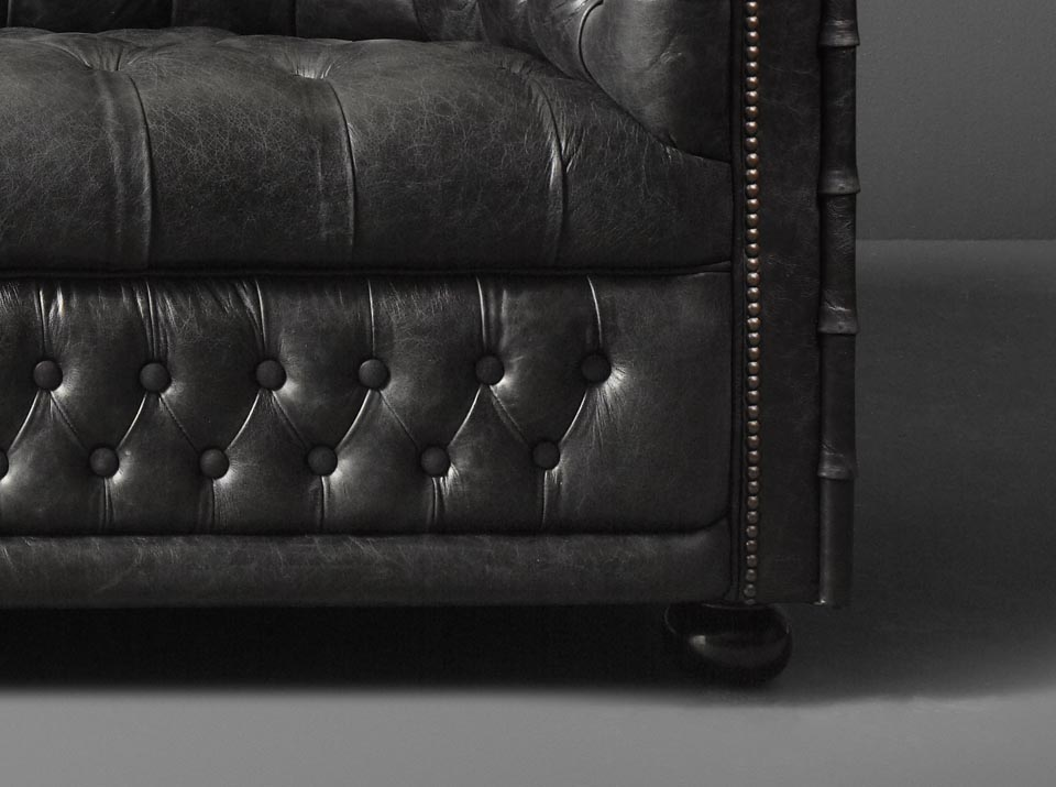 Hamilton leather chesterfield sofa