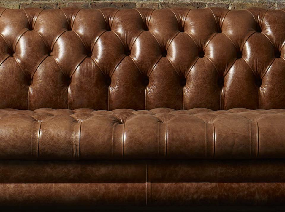 kingston leather chesterfield sofa