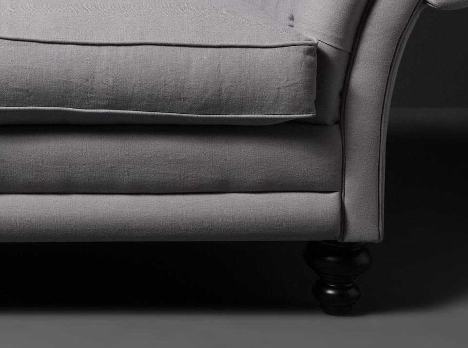 kingston linen chesterfield sofa