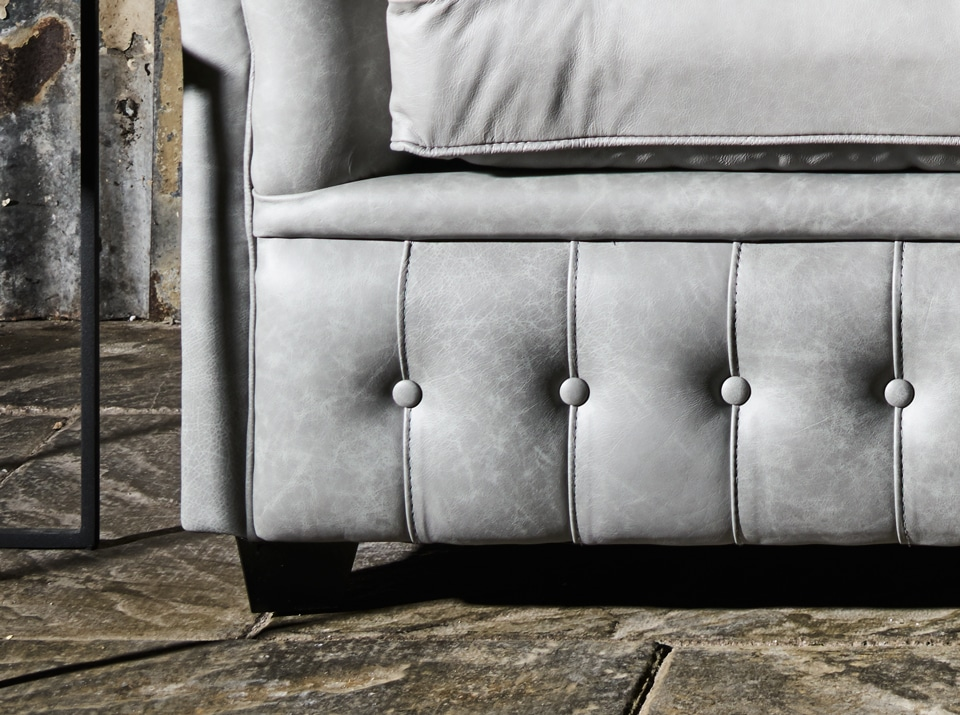foot of a chesterfield sofa