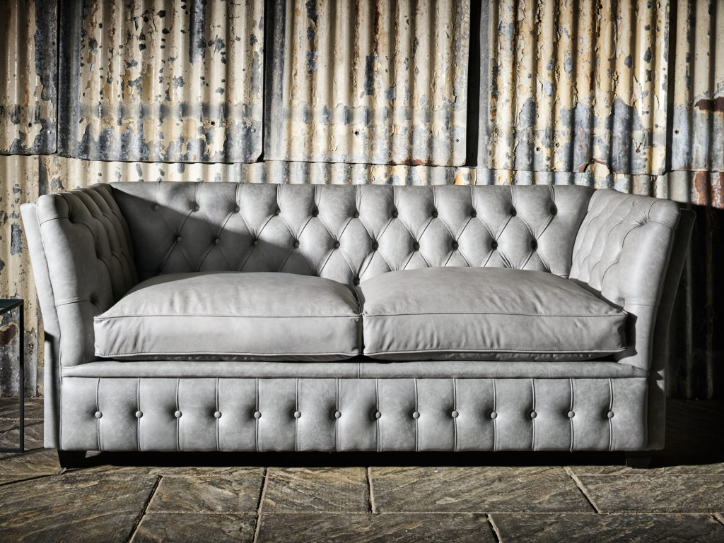 chesterfield sofa in grey