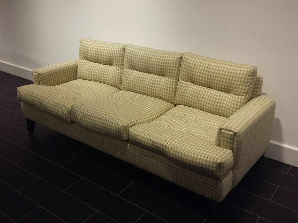 checked chesterfield sofa